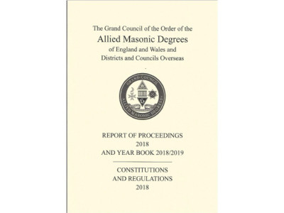 Allied Masonic Degree - Constitutions, Regulations And Yearbook 2018-2019