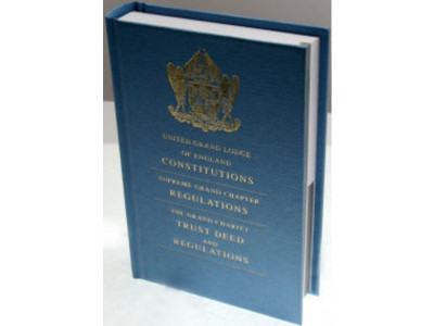 Book of Constitutions United Grand Lodge of England - 2019 Edition - Masonic Regalia from Victoria Regalia