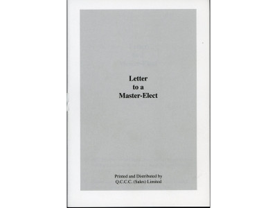 Letter To A Master Elect