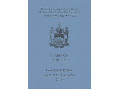 Mark Masons Combined Book of Constitutions and Yearbook 2019-2020