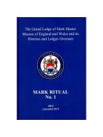 Mark No.1 Ritual - Advancement