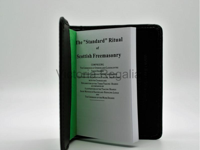 Faux leather book Cover for Scottish Masonic Standard Ritual