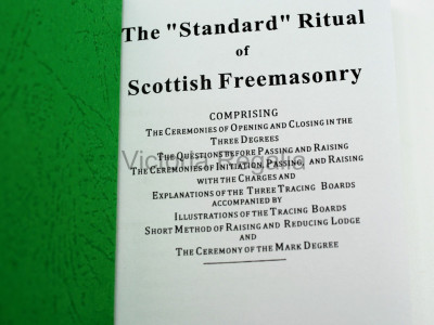 Scottish Masonic Standard Ritual book for Craft and Mark Ceremony