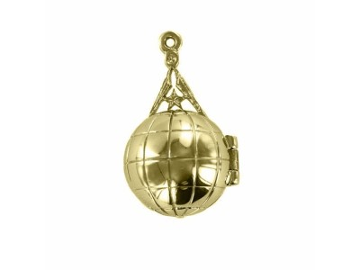Rare Freemasonry Masonic Ladder Orb -  Gold Plated Solid Silver