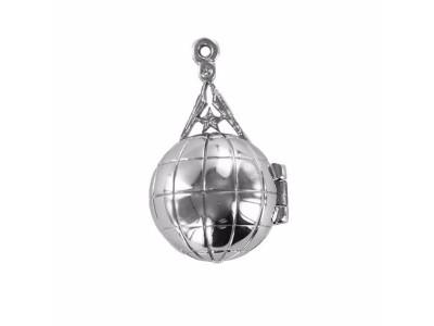 Rare Freemasonry Masonic Ladder Orb -  Solid Silver