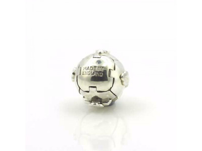 Handmade Masonic Orb Fob Ball Cross Pendant -  Solid Silver - Small Size