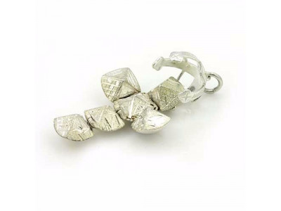 Handmade Masonic Orb Fob Ball Cross Pendant -  Solid Silver - Small Size