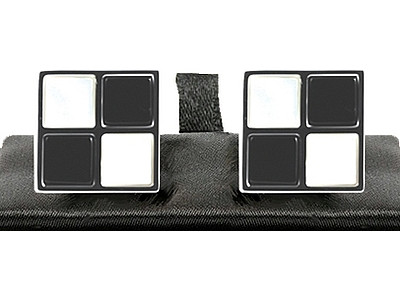 Chequered carpet cufflinks