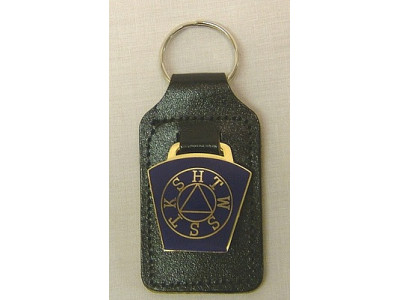 Masonic Keyring/fob - Mark Key Stone Blue