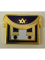 Masonic Apron blue Lapel Pin