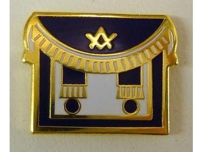 Masonic Apron blue Lapel Pin