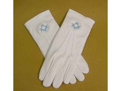 White Gloves - Embroidered
