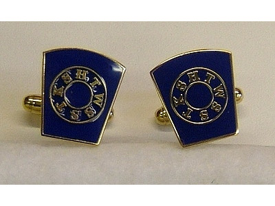 Masonic Mark Freemasons Blue Cufflinks