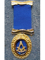 Past Master No. 4 style Breast  Jewel available in Base Metal or Silver - (Gold) Gilt - SCOTTISH MASON
