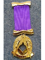 Past Master No. 2 style Breast  Jewel available in Base Metal or Silver - (Gold) Gilt - SCOTTISH MASON