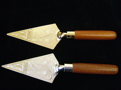 Masonic Trowel  for Freemasons  gold or silver