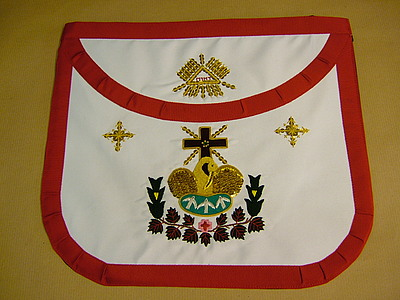 18th Degree Apron  Fully Embroidered - SCOTTISH