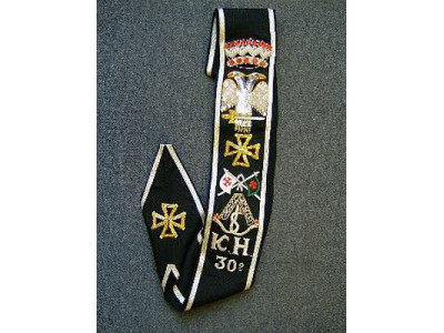 30th Degree Sash Fully Embroidered  - SCOTTISH