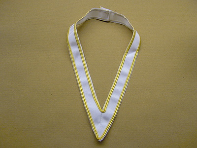 "31st Degree Collarette 1"" White Gold Edges - SCOTTISH"