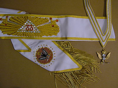 33rd Degree Sash  Fully hand embroidered - SCOTTISH