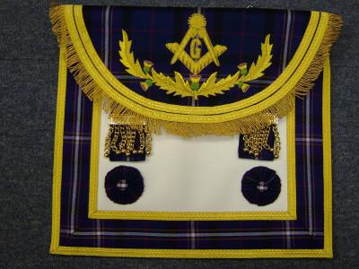 Master Masons Dress Apron Style No .5 - SCOTTISH MASON
