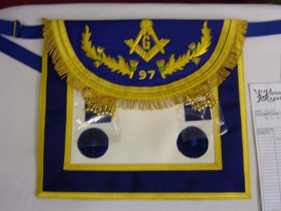 Master  Masons Apron Style No .5 - SCOTTISH MASON