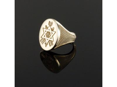 Order of the Secret Monitor - Masonic Freemason ring -   9ct Gold