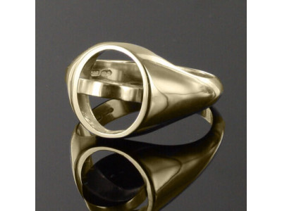 Gold Royal Preceptory Masonic Ring- Black With Reversible Head - 9ct Gold