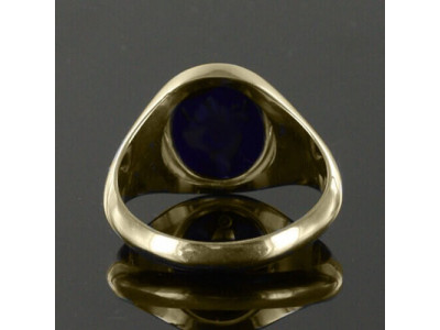 Masonic Ring Blue Reversible Square and Compass a Hallmarked 9ct Gold