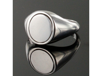 Masonic Ring Blue Reversible Square and Compass Solid Silver