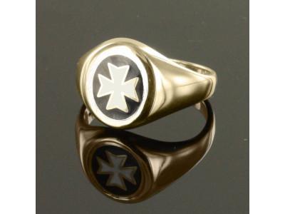 Gold knights of Malta Masonic Ring