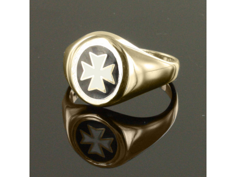 Gold knights of Malta Masonic Ring