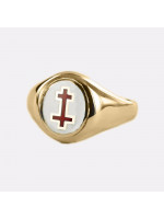 Gold Past Preceptor Masonic Ring