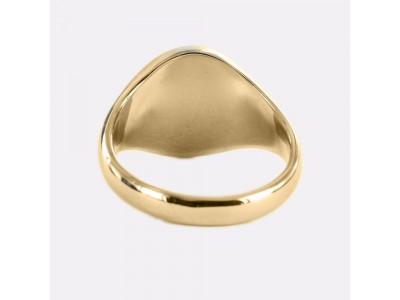 Masonic Ring Black Square and Compass With G - Fixed Head - 9ct Gold