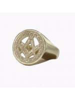 Masonic Signet Ring 9ct Yellow Gold – Square & Compass
