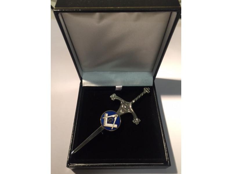 Masonic Kilt Pin 80mm Long With Masonic Symbol Square Compass And G