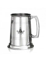Masonic Tankard made in Pewter with square Compass and G Badge