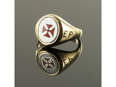 Scottish KT and SC&G reversible swivel  ring - Knights Templar and Square Compass and G  Ring 9ct Gold