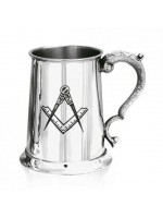 Masonic Tankard made in Pewter with Square and Compass Engraved