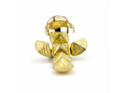 Handmade Masonic Orb Fob Ball Cross Pendant -  9ct Gold - Medium Size