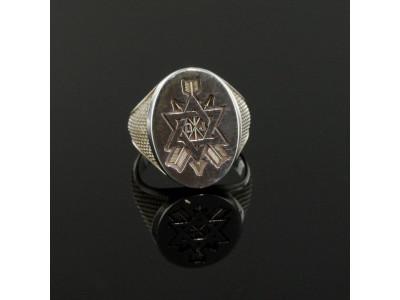 Order of the Secret Monitor - Masonic Freemason ring -   Solid Silver