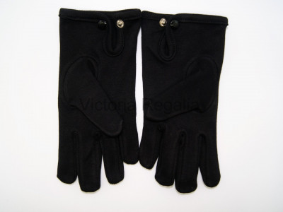 Knights Templar Black Cotton Gloves - English Constitution