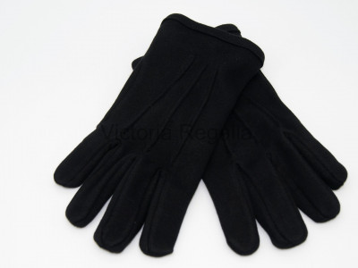 Knights Templar Black Cotton Gloves