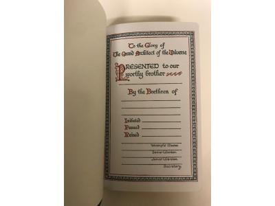 Masonic Presentation Bible