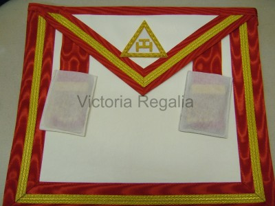 Irish Royal Arch Companions Apron STD with option to have chapter badge