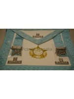 Worshipful Masters Apron - Super with Crest Embroiderd - English Constitution