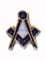 Square and Compass Masonic Freemasons Speck of Sust Lapel Pin