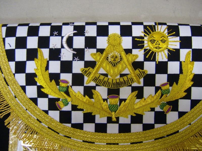 Right Worshipful Master Dress Apron Style No 5 - SCOTTISH MASON