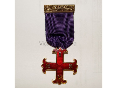 Red Cross of Constantine Knights Breast jewel - English Constitution