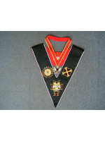 32nd Degree Full Set -  Hand embroidered Collar, Collarette & Jewel